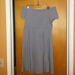 Torrid grey off the shoulder dress